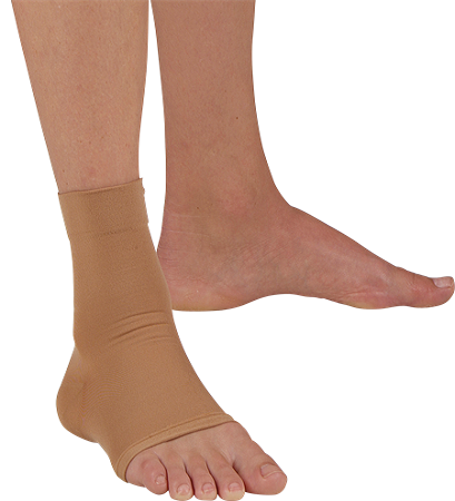 closed heel elastic ankle sleeve